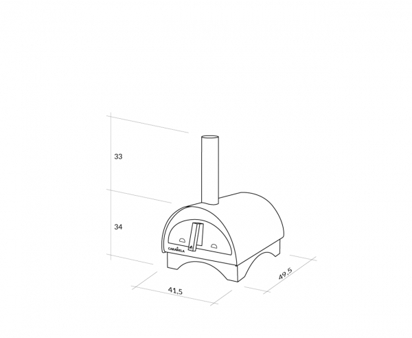Carawela's Minimo Portable Wood Fired Pizza Oven Dimensions