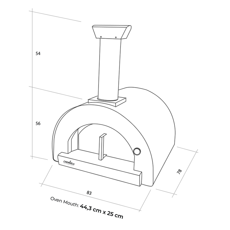 Apogeu 60 Wood Fired Oven - Dimensions
